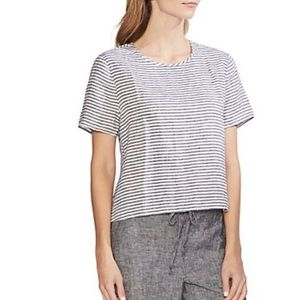 Vince Camuto Linen Striped blouse